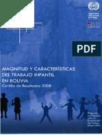Cartilla Ine Oit Trabajo Infantil(2009) BOLIVIA