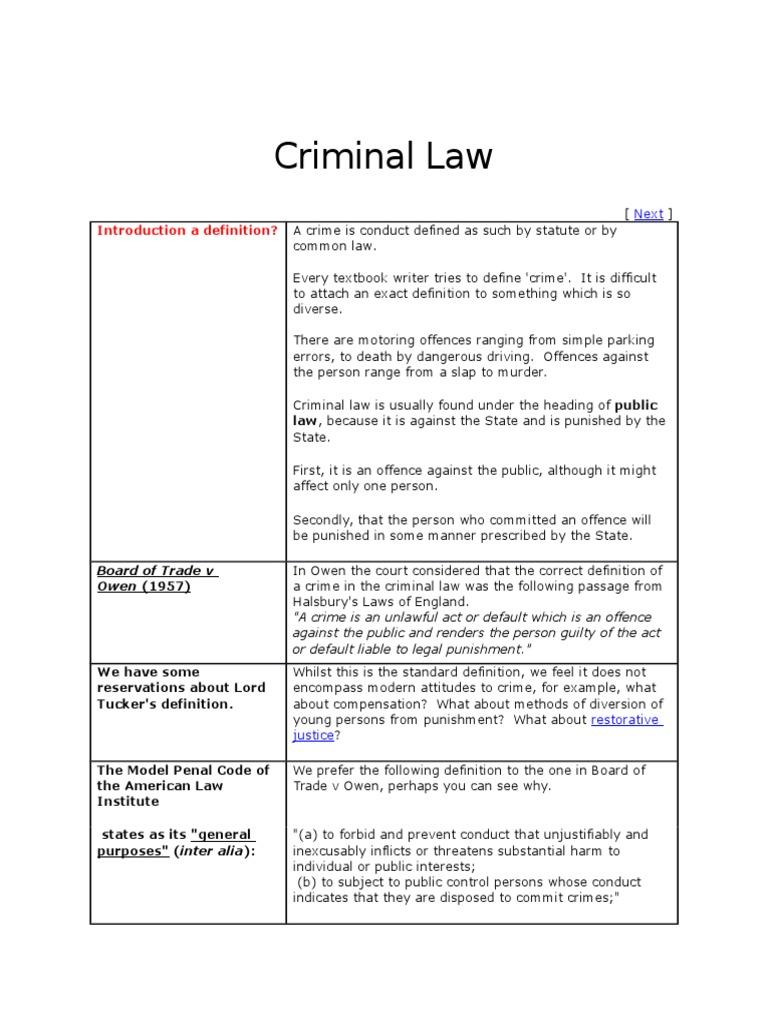 criminal law.docx   mens rea   causation (law)