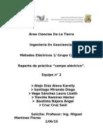 "Reporte de práctica ""Campo Eléctrico""."
