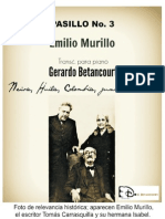 PASILLO No. 3. Emilio Murillo. Transc. para piano Gerardo Betancourt.