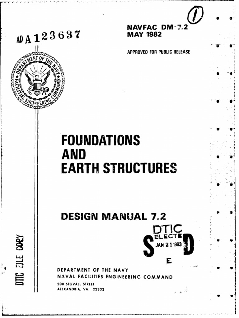 Foundations AND: Earth Structures