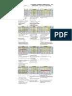 Calendário Acadêmico Graduação 2015