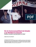 De La Homosexualidad de Estado a La Disidencia Sexual