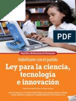 Ley Para La Ciencia Tecnología e Innovación