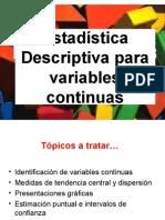 2 Estadística Descriptiva (Variables Continuas-graficas) x