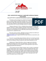 STEC ANNOUNCES SARANAC LAKE 6ER NATIONAL TRAILS DAY EVENT