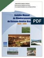 Boletim Sistema Elétrico - Abril-2015