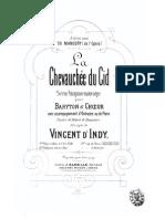 Indy - La Chevauchee Du Cid Vocal Score