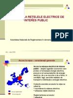Prezentare Anre Accesul La Retelele Electrice de Interes Public