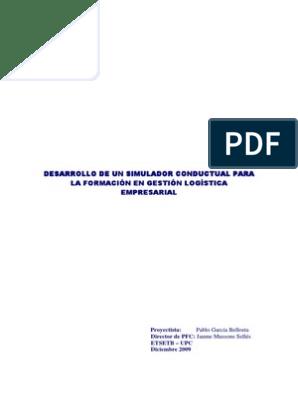 Para Formación Conductual En Logística Empresarial Gestión Simulador YIf7g6byvm