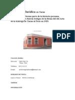 Casa de La Jurídica en Tacna