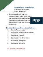 Bacias hidrograficas brasileiras