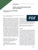 Light touch modulates balance recovery following perturbation