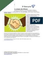 CONSULTCORP F-SECURE F-Secure Anuncia Compra Da NSense