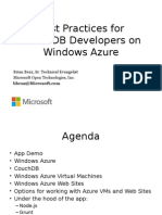 11-00-Best Practices for CouchDB Developers on Windows Azure