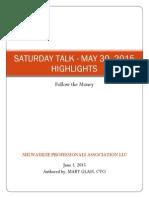Saturday Talk Highlights - May 30, 2015