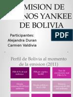 Emision Bonos Yankee Bolivia