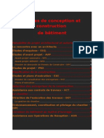 Etapes de Conception Et Construction