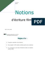 notions d ecriture filmique