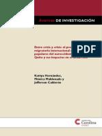 Proceso Migratorio en Los Barrios de Quito