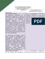 Matriz de Administración Estratégica aplicada a la Administración Financiera
