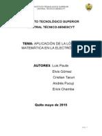 la importancia de la lógica matemática en la electronica