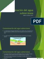 Contaminación Del Agua Subterránea