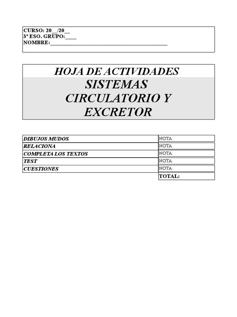 hoja trabajo circulatorio excretor.pdf