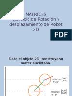 Matrices de Rotacion de Robot 2D
