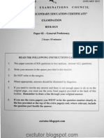 CSEC Biology Paper 2 January 2015