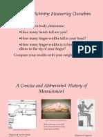 History of Measurement