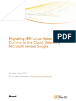 Migrating Lotus Notes to BPOS vs Google Final (1)
