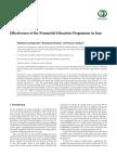 Effectiveness of the Premarital Education Programme in Iran