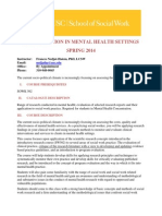 Evaluation in Mental Health Settings