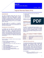 the Kessler Psychological Distress Scale (K10)