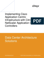 Implementing Cisco ACI With Citrix Netscaler