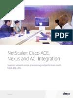 NetScaler Cisco ACE Nexus and ACI Integration