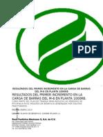 INFORME Incremento en Carga de Barras M-6 Planta 1000RB