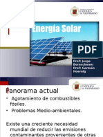 Curso Energías Renovables, Energía Solar Térmica, Profesor Jorge Bornscheuer