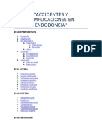 Accidentes y Complicaciones en Endodoncia
