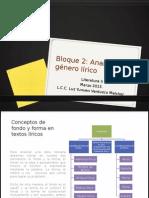 Bloque II Analizas El Género Lírico 2015-1