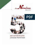 Revista Aniversario LaNomina