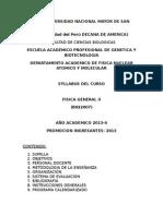 Syllabus Física General II 2013 2