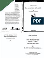 Zemelman Los Horizontes de La Razon Tomo III