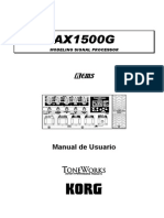 Manual Korg AX1500G