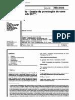 NBR 12069 MB 3406 - Solo - Ensaio de Penetracao de Cone in Situ (CPT)