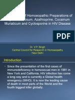 Clinical Trial of Homoeopathic Preparations of Amyleum Nitrosum, Azathioprine Cocainum Muriaticum and Cyclosporine in HIV Disease