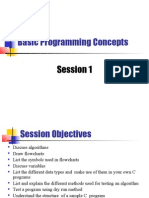 Session1 - Basic Programming Concepts
