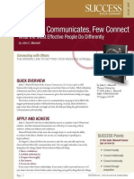 Everyone Communicates Few Conne - Success Magazine Book Summaries