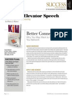 Kill Elevator Speech Summary - Success Magazine Book Summaries